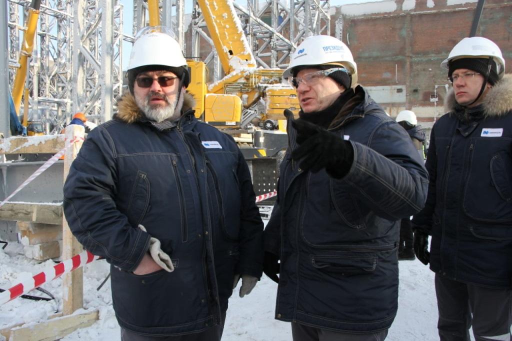 Владимир Потанин посетил строительную площадку «Серной программы» на Надеждинском металлургическом заводе