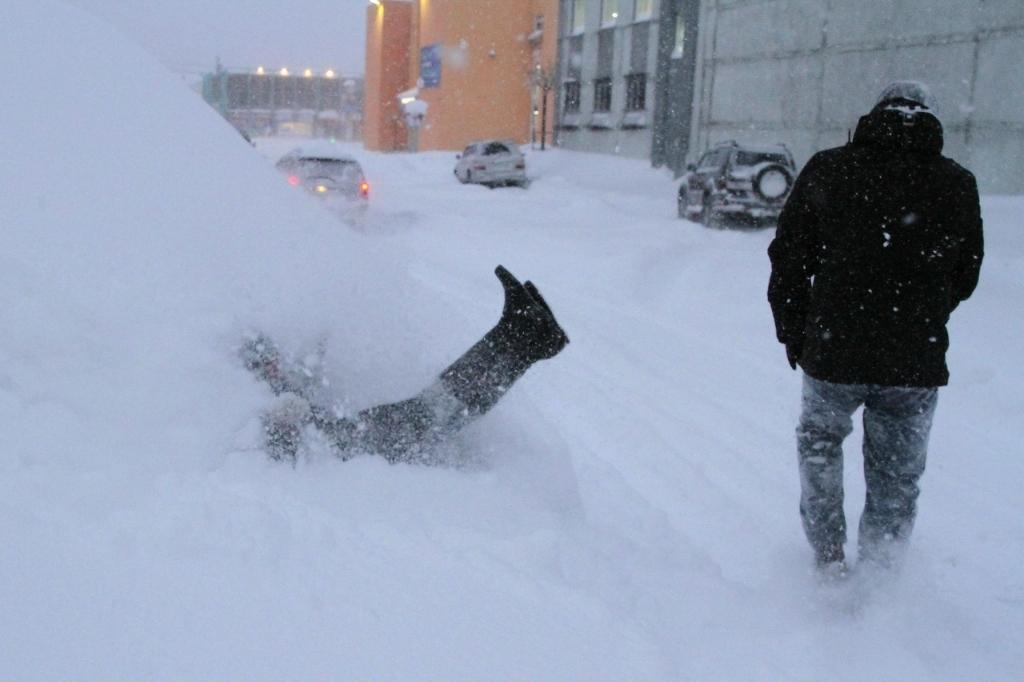 Снежная сказка в Талнахе