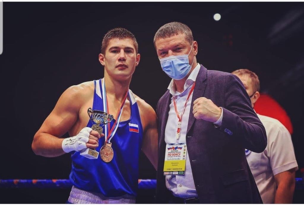 Воспитанник норильской школы бокса Андрей Косенков стал бронзовым призёром чемпионата России по боксу