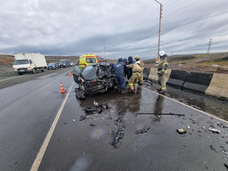 Сегодня утром в результате ДТП на автодороге Норильск-Алыкель погиб человек