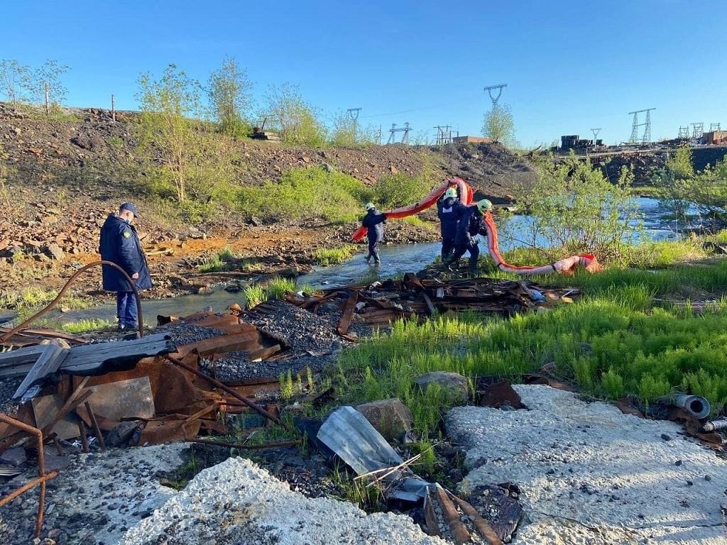 Краевая прокуратура провела проверку по факту разлива пульпы в Норильске
