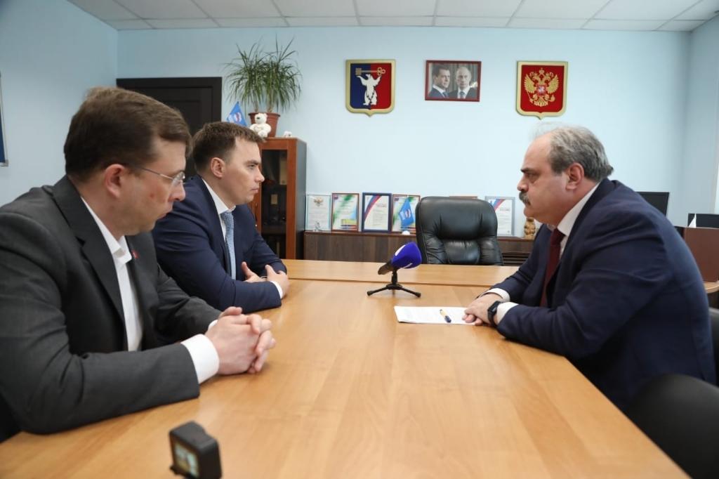 Первые лица города встретились с депутатом Государственной Думы Алексеем Веллером
