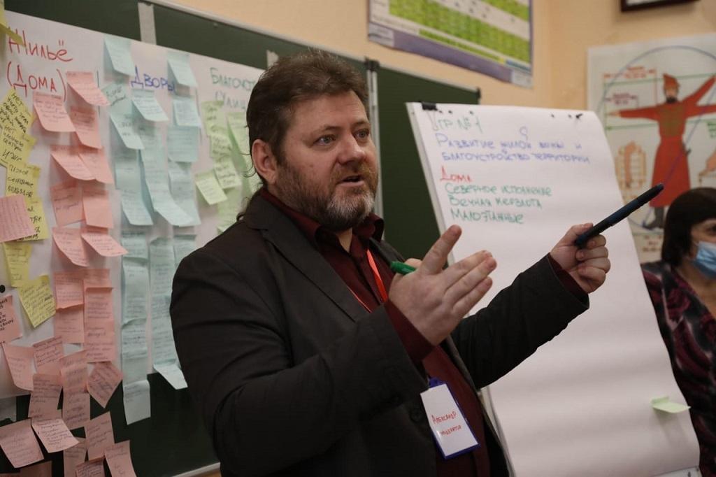 Работа секции, посвященной развитию жилой зоны Норильска и благоустройству, вызвала активный интерес у участников