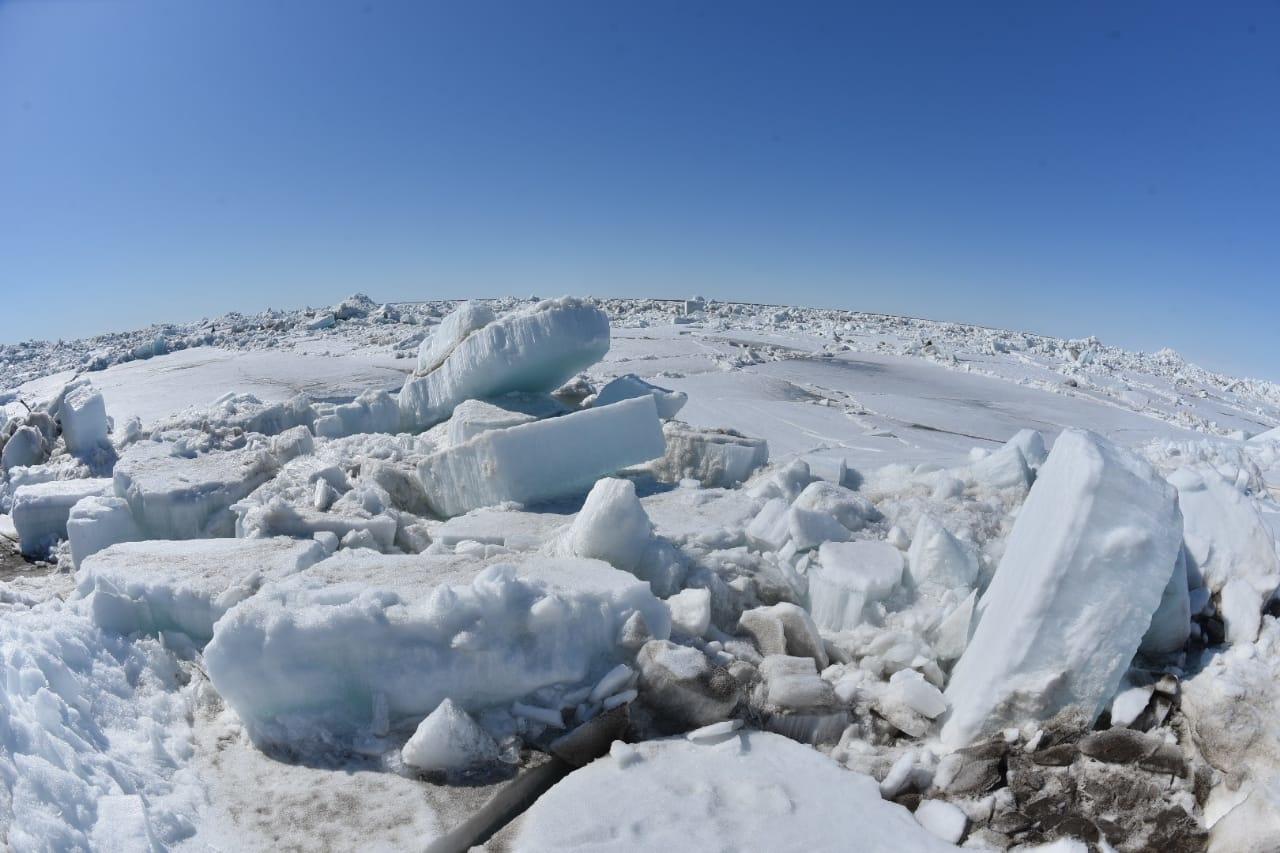 Лёд бьёт рекорд. Енисей «пошёл» в этом году аномально рано