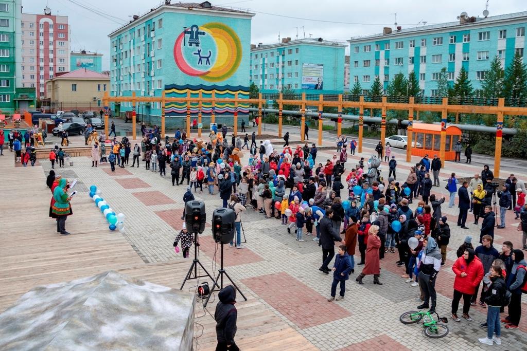 В центре Дудинки открыли новое общественное пространство