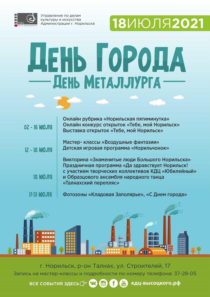 В КДЦ им. Вл. Высоцкого уже начали отмечать День города и День металлурга