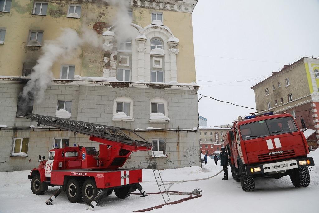 В марте в Норильске произошло 12 пожаров. К счастью, пострадавших нет
