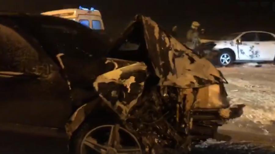 По вине пьяного водителя на кайерканской дороге произошло ДТП. Пострадала семья с детьми