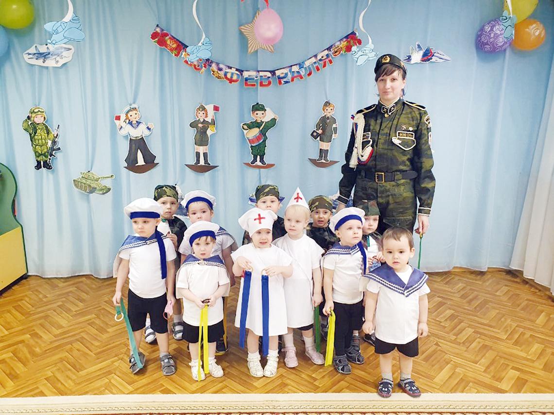 В детском садике «Сказка» малыши устроили праздничный салют