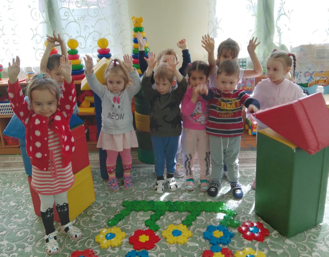 В детсаду «Колокольчик» оригинально отметили главные праздники города.