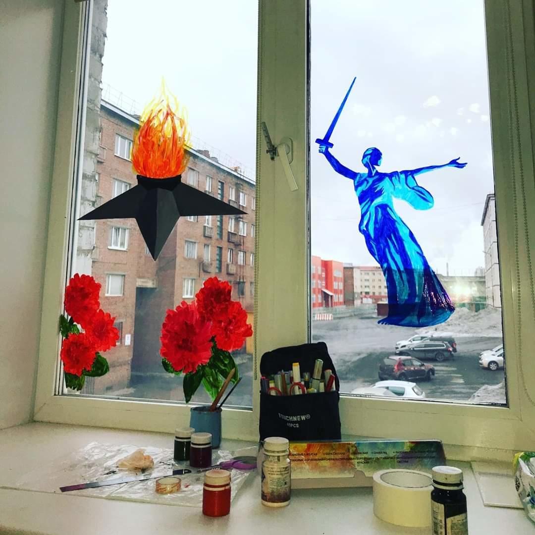 Норильск присоединился к акции «Окна Победы»