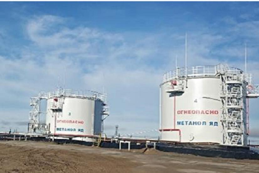 «Норильсктрансгаз» завершил проект по замене резервуаров на складе метанола в посёлке Тухард