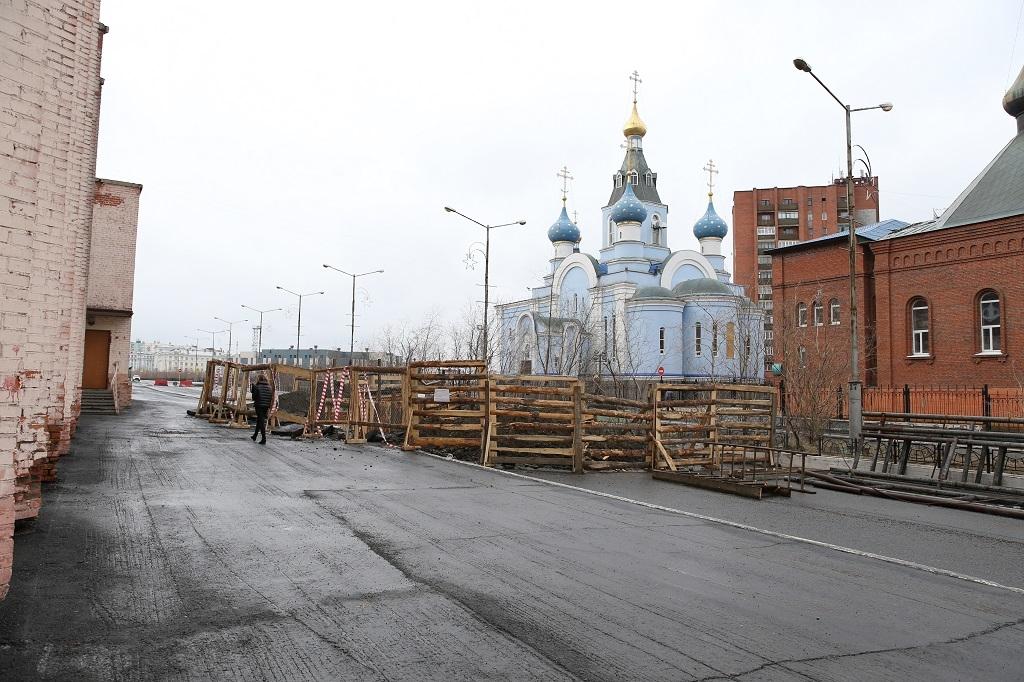 С сегодняшнего дня открыто движение в районе ул. Пушкина, 12