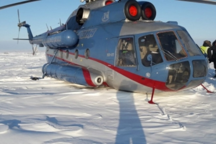 В 28 км от Дудинки вынужденную посадку совершил вертолет Ми-8Т авиакомпании «Норильск Авиа»