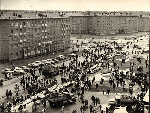 Улица Таймырская и площадь Горняков