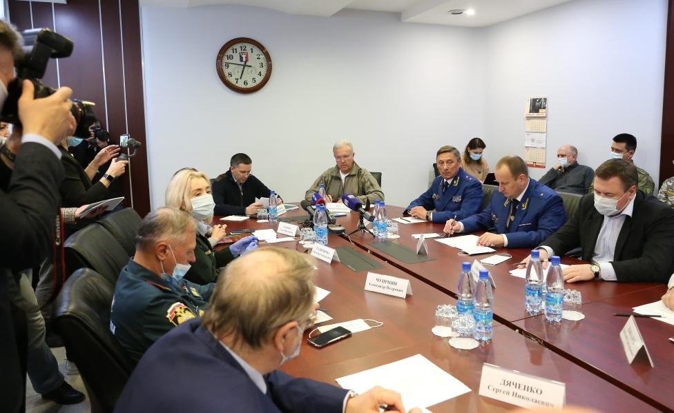 Губернатор Александр Усс высоко оценил действия спасателей и ликвидаторов последствий аварии на ТЭЦ-3