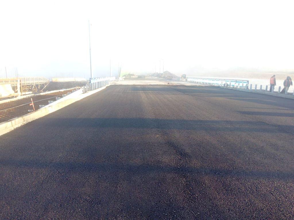 Реконструкция моста в районе 50 лет Октября завершается
