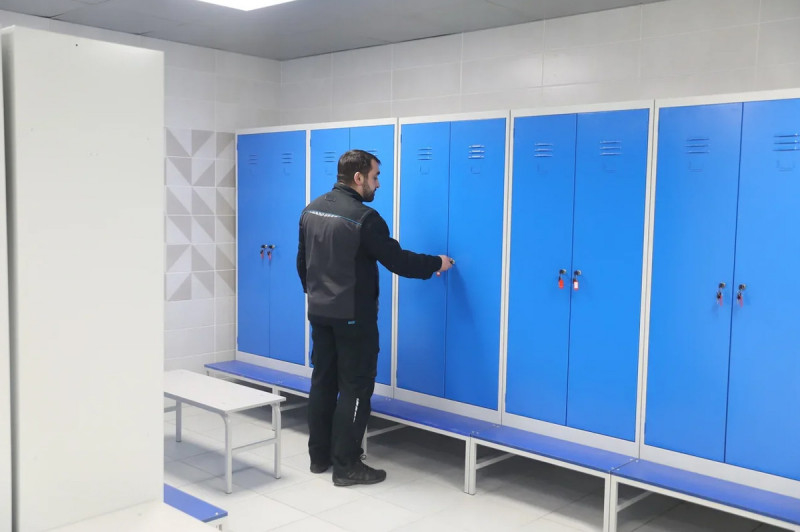 На предприятии «Единое складское хозяйство» обновили гардеробные блоки