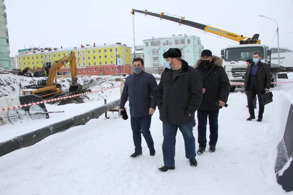 Делегацию Совета Федерации знакомят с наиболее важными объектами ЖКХ в Норильске