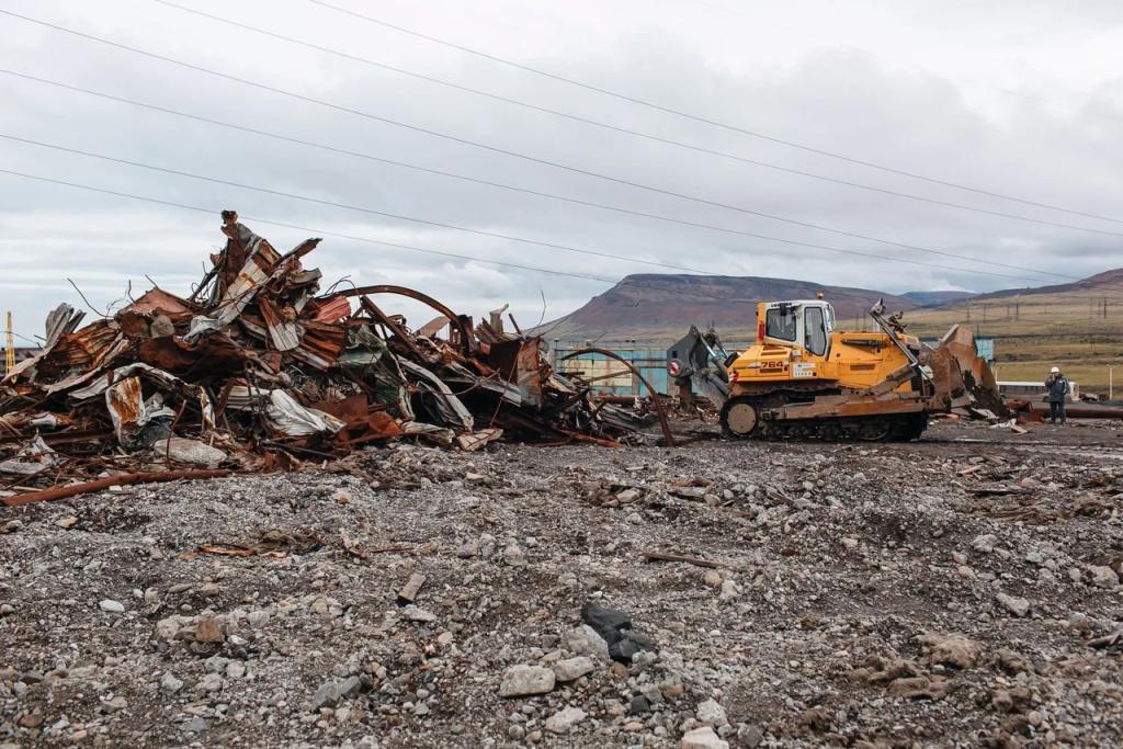 В Норильске подвели первые итоги большой уборки