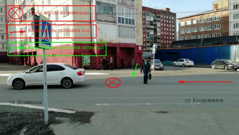 В Талнахе на пешеходном переходе сбит 10-летний мальчик