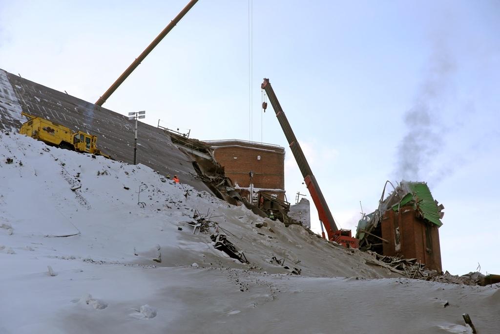 Спасательные работы на месте обрушения галереи на НОФ завершены