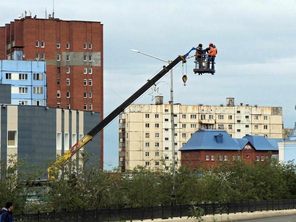На автодорогах города Норильска выполнен большой объём работ