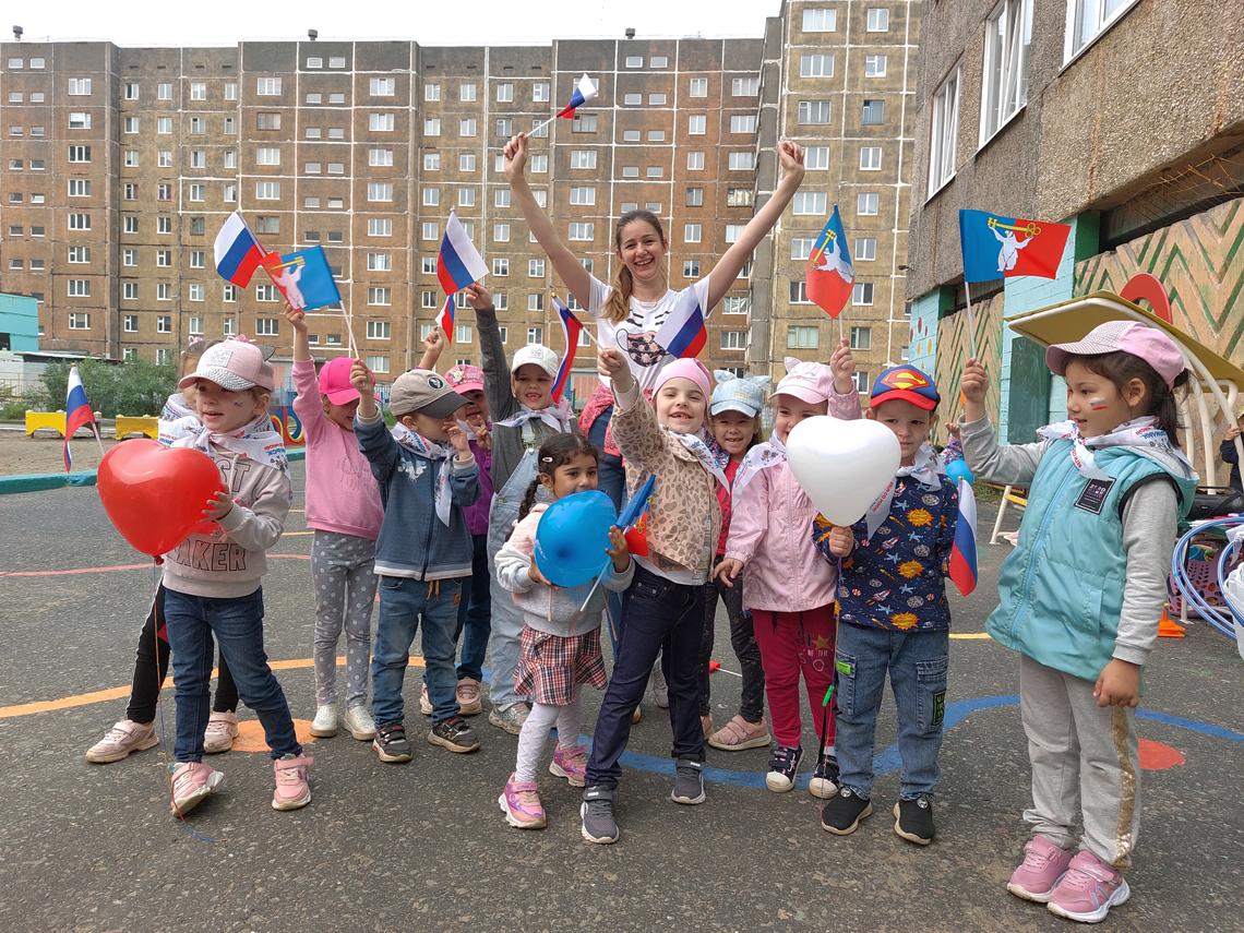 Детсад «Золотой петушок» присоединился к флешмобу в поддержку спортсменов России