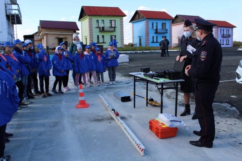 Юные норильчане приняли участие в квесте «Тропа безопасности»