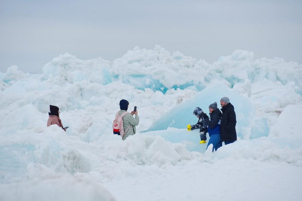 Пройдя Игарку и Потапово, ледоход на несколько дней остановился в Дудинке
