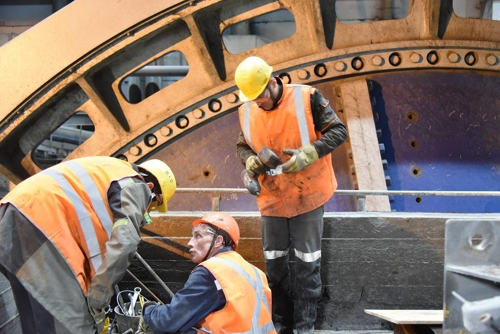 На Талнахской обогатительной фабрике идёт ремонт рудной мельницы полуизмельчения
