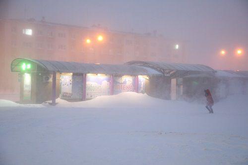 Накрывший Норильск циклон продлится, как минимум, до завтрашнего вечера.