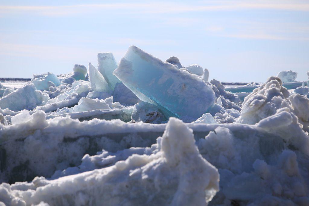 Кромка льда на Енисее в 1118 километрах от Дудинки.