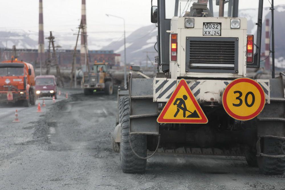 На автодороге Норильск - Талнах начался третий, заключительный этап ремонта.