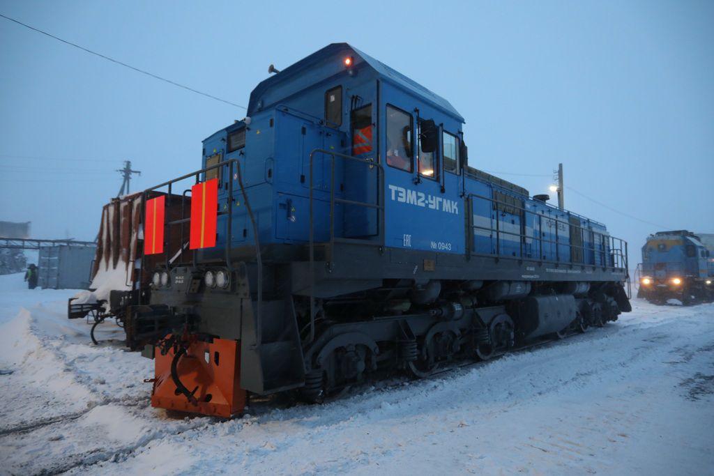 Первый модернизированный локомотив прошёл испытания на предприятии технологического железнодорожного транспорта ЗФ «Норникеля».