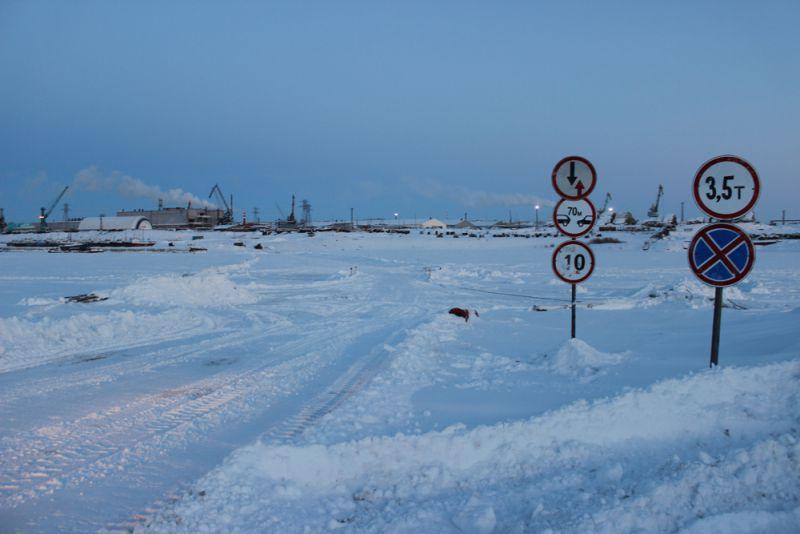 На Таймыре открылась ледовая переправа через реку Дудинку.