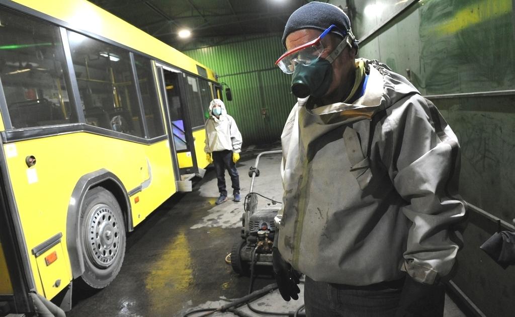 Пассажирские автобусы Норильска будут дезинфицировать несколько раз в день до полного снятия карантинных мер