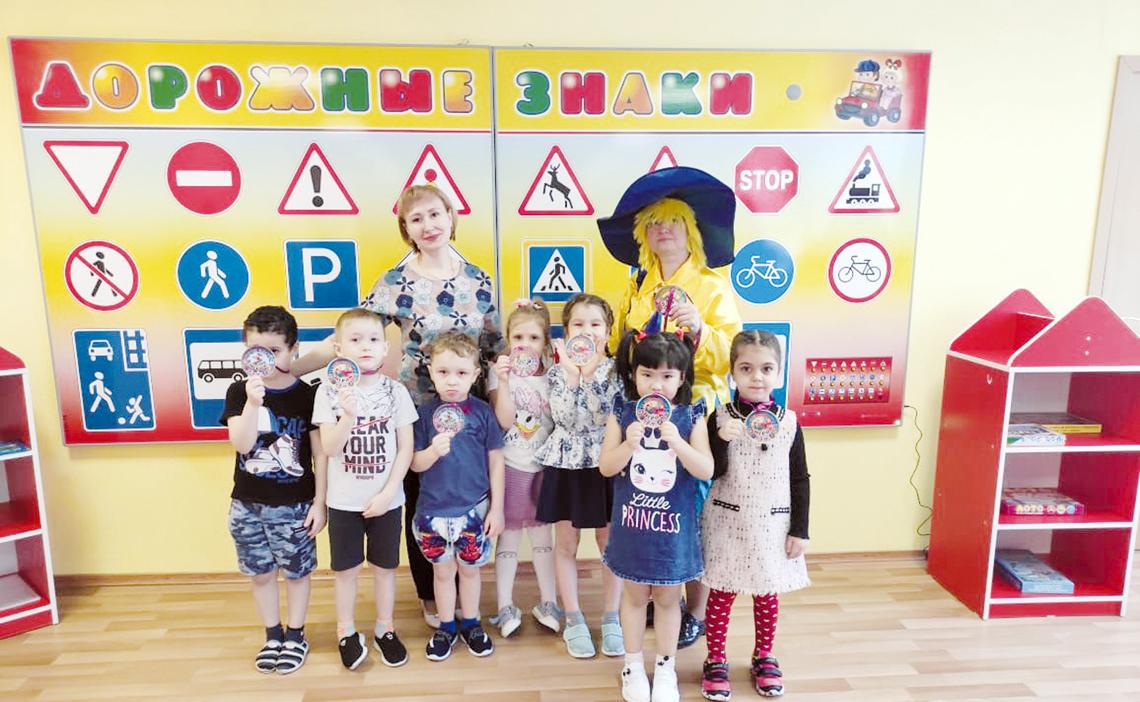 Незнайку научили правилам дорожного движения в детском саду «Надежда»