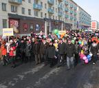 Первомайская демонстрация по Ленинскому проспекту. 2006 год