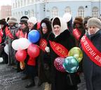 Ветераны Великой Отечественной войны на демонстрации. 2005 год