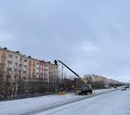 До конца недели на Ленинском проспекте планируется включить уличное освещение