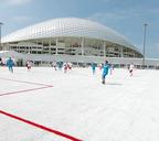 В 2018 году в Сочи на стадионе «Фишт» было установлено футбольное поле, изготовленное из переработанных пластиковых стаканчиков. Для создания нового спортивного объекта было использовано более 50 тысяч стаканчиков общим весом 2,5 тонны. Их собрали на