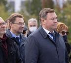 В Красноярске открыли памятник северянину и бывшему руководителю Красноярского края Павлу Федирко