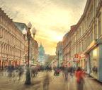 Улица старый Арбат. Москва