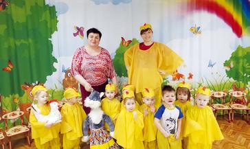 В садике «Сказка» для малышей устроили «Дружный кружочек»