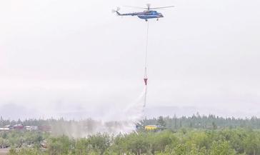 «Норильсктрансгаз» и «НорильскАвиа» провели учения по тушению возгораний в тундре