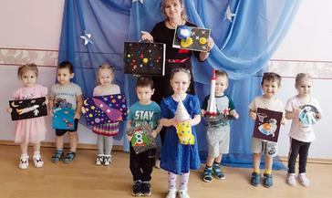 Воспитанники детского сада «Тундровичок» узнали историю Дня космонавтики
