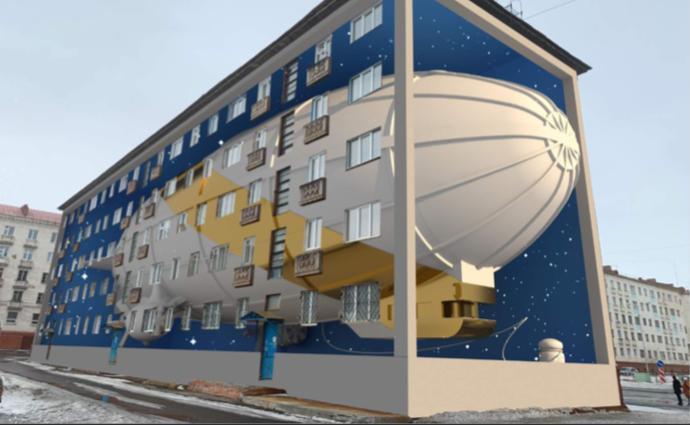Фасады двух домов и пустой бак в Норильске станут объектами уличного искусства