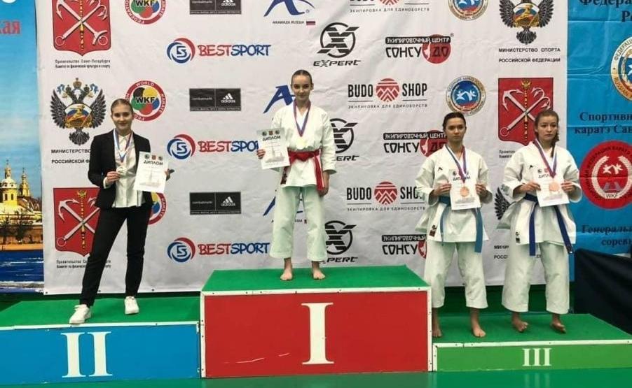 Норильская каратистка Александра Нуркенова стала второй на всероссийских соревнованиях